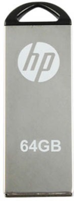 HP V-220 W 64 GB Pen Drive(Grey) at flipkart