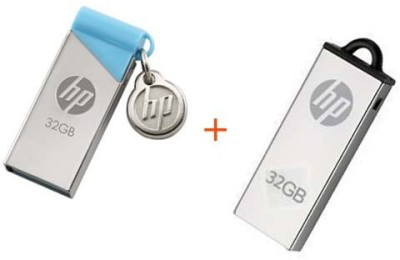 HP V215B+V220W 32 GB Pen Drive(Silver, Blue) at flipkart