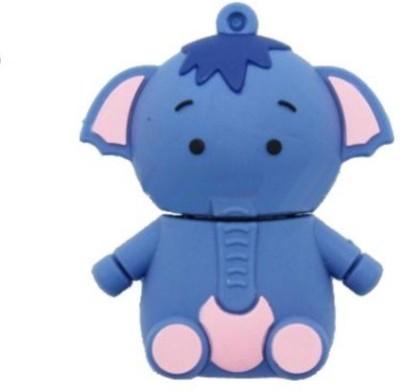 Quace Baby Elephant 4 GB Pen Drive(Blue)