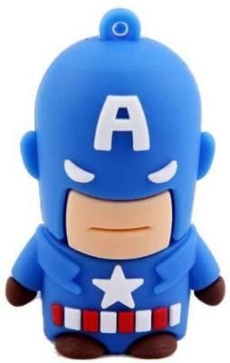 Quace Captain America 4 GB Pen Drive(Multicolor)