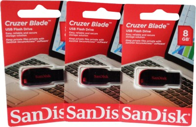 SanDisk Cruzer Blade Usb 8 GB Pen Drive(Multicolor)  available at flipkart for Rs.1299