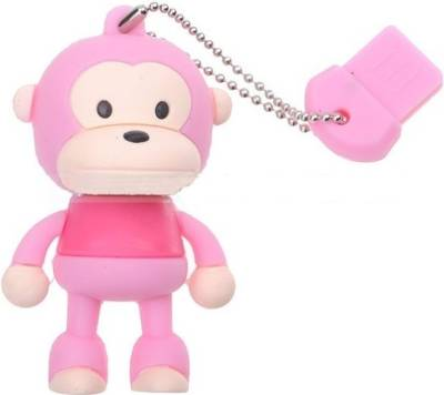 Microware Monkey Pink Shape Designer 8 GB Pendrive Image