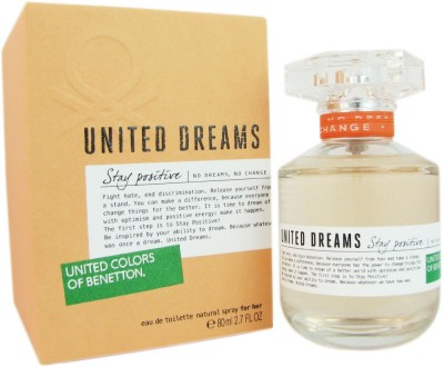 Benetton United Dreams Stay Positive Eau de Toilette  -  80 ml(For Girls)