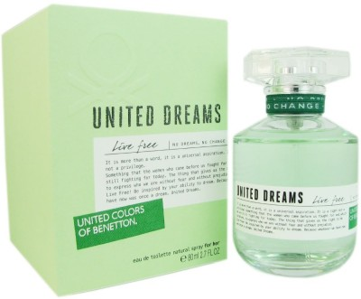 United Colors Of Benetton Live Free EDT For Women - 80 ml