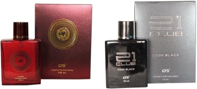 CFS Exotic NYC Bond And 21 Club Code Black Combo Perfume Eau de Parfum  -  200 ml(For Men & Women)  available at flipkart for Rs.532