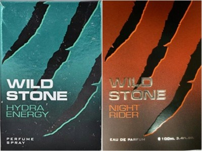 Wild Stone Hydra Energy & Night Rider Eau de Parfum  -  200 ml(For Men)
