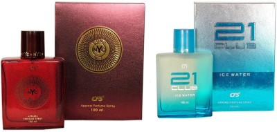 CFS Exotic NYC Bond And 21 Club Ice Water Combo Perfume Eau de Parfum  -  200 ml(For Men & Women)  available at flipkart for Rs.532