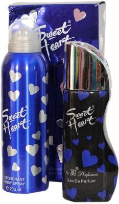 JBJ Exotic Sweet Heart Blue Combo of perfume and Deo Eau de Parfum  -  300 ml(For Men & Women)  available at flipkart for Rs.399