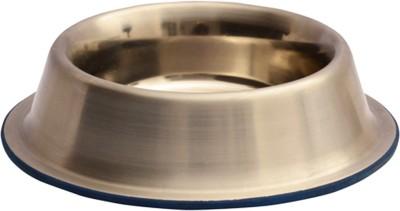 Dog Spot Non Tip Bowl Round Aluminium Pet Bowl(3.5 ml Silver)