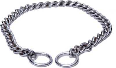 Scoobee Dog Choke Chain Collar(35 - 50 cm, silver)  available at flipkart for Rs.180