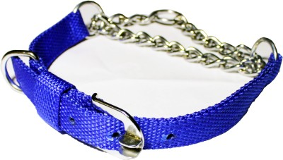 AULIE WORLD Dog Choke Chain Collar(Medium, BLUE)  available at flipkart for Rs.199