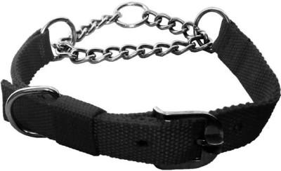Petshop7 Black Nylon 1 Inch Dog Choke Chain Collar(Medium, Black)  available at flipkart for Rs.225