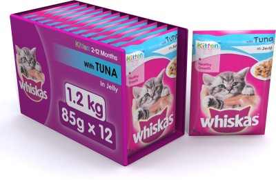 Whiskas Adult Wet Food Tuna Cat Food(1.02 kg, Pack of 12)