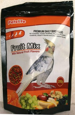 Taiyo Petslife cockatiles Birds Daily food 200g ** COLOURFUL AQUARIUM ** Fruit 200 g Dry Bird Food
