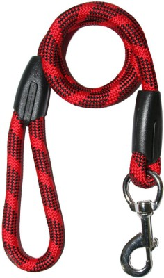 Dog Spot DS-11016 73 cm Dog Cord Leash(Red, Black)