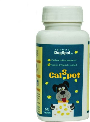Dog Spot Calcium Supplement Tablet(60 tablets)  available at flipkart for Rs.240