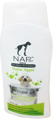 Nappets India Conditioning Green Apple Dog Shampoo(200 ml)  available at flipkart for Rs.160