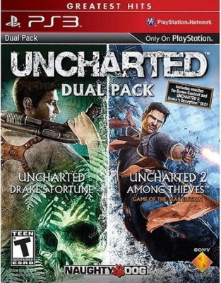 Uncharted Dual Pack : Uncharted : Drake's Fortune / Uncharted 2 : Among Thieves (Game Of The Year Edition)(for PS3) at flipkart