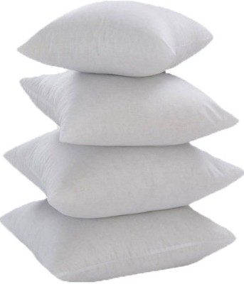 JDX Plain Back Cushion Pack of 4(White)