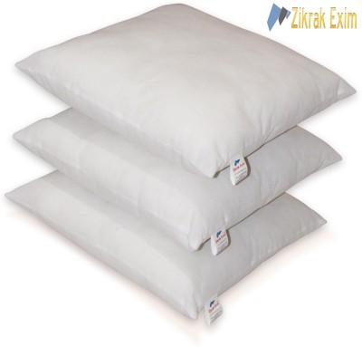 Zikrak Exim Plain Back Cushion Pack of 3(White) at flipkart