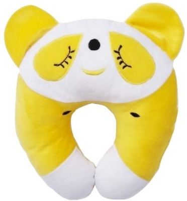 GuzelWorld Embroidered Travel Pillow Pack of 1(Yellow)