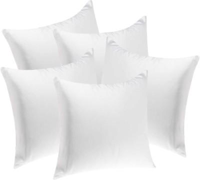 Fluffy Plain Back Cushion Pack of 5(White) at flipkart