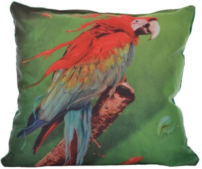 Twisha Printed Design Decorative Cushion Pack of 1(Multicolor, Green)