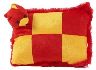 Chhote Janab ANIMAL FACE Bed/Sleeping Pillow Pack of 1(Red, Yellow)