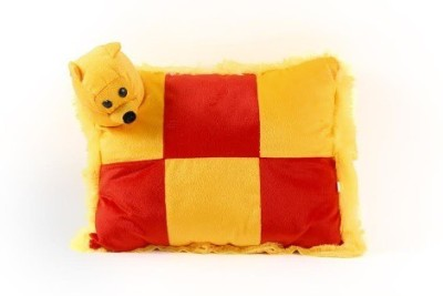 Chhote Janab ANIMAL FACE Bed/Sleeping Pillow Pack of 1(YELLOW,RED)