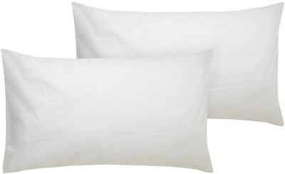 PumPum Polyester Fibre Solid Sleeping Pillow Pack of 2  (White)