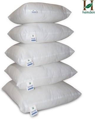 Hemden Plain Back Cushion Pack of 5(White) at flipkart