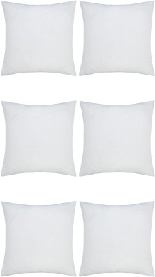 JDX Plain Back Cushion Pack of 6(White)