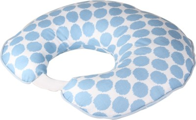 Bacati Geometric Print Baby Pillow Pack of 1(Blue)