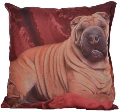 Twisha Printed Design Decorative Cushion Pack of 1(Multicolor, Pink)