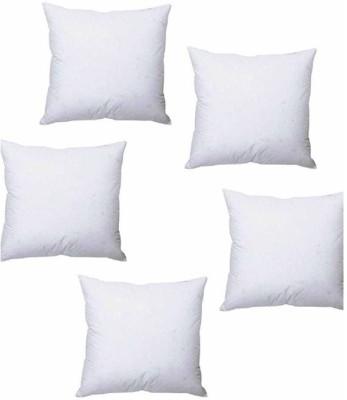 Homedecorhd Solid Back Cushion Pack of 5(White) at flipkart