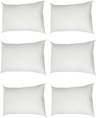 Tidy Solid Bed/Sleeping Pillow Pack of 6(White) at flipkart