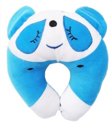 GuzelWorld Embroidered Travel Pillow Pack of 1(Blue)