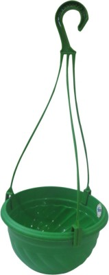 DCS Perfect to keep small Potted Plants Outdoors and Indoors Hanging Planter(Green) Plant Container Set(Plastic)  available at flipkart for Rs.180