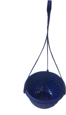 DCS Perfect to keep small Potted Plants Outdoors and Indoors Hanging Planter(Blue) Plant Container Set(Plastic)  available at flipkart for Rs.180