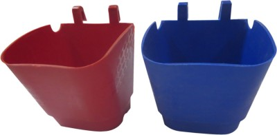 DCS Vertical Garden Wall Hanging Pot Maroon & Blue Colour (Pack of 2) Plant Container Set(Pack of 2, Plastic)  available at flipkart for Rs.240