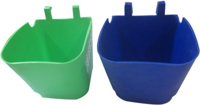 DCS Garden Wall Hanging Pot Multi Colour (Pack of 2) Plant Container Set(Pack of 2, Plastic)  available at flipkart for Rs.140