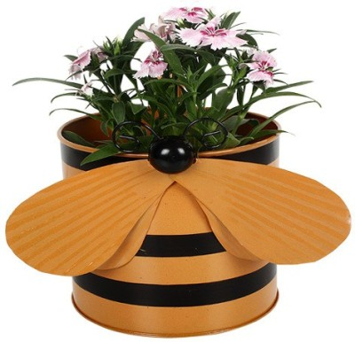 TrustBasket Bee Planter-Orange Plant Container(Metal, External Height - 15 cm) at flipkart