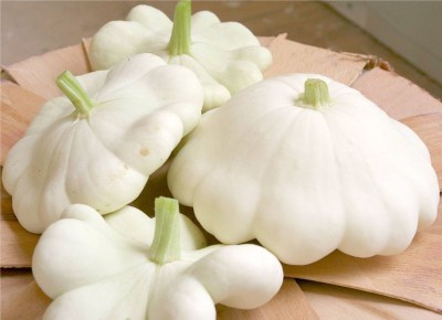 National Gardens White Bush Scallop squash Seeds by National Gardens Seed(5 per packet)  available at flipkart for Rs.119