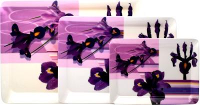 Superware Bunch Of Purple Tray Set(Pack of 3) at flipkart