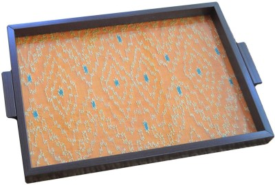 Craftghar Patola-Orange Tray at flipkart