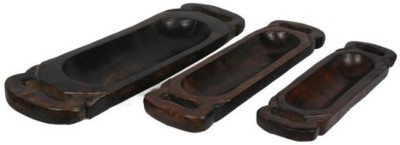 Artlivo Decorative Solid Wooden Trays, Set of 3 Tray Set(3 Units) at flipkart