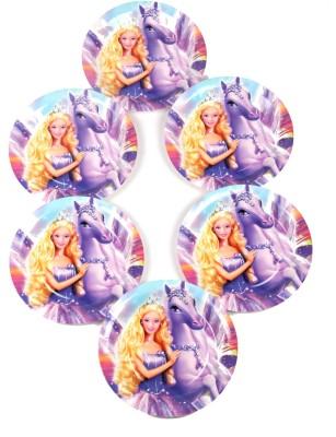 Funcart Riding Princess Theme 9 Quarter Plate 6 Quarter Plate Funcart Plates Trays   Dishes