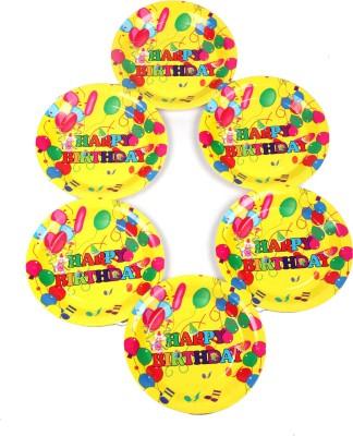 Funcart Colorful Balloons Theme 7 Inch Quarter Plate 6 Quarter Plate Funcart Plates Trays   Dishes