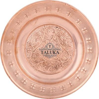 "Taluka (Dia:- 8.11"" Inches) Handmade Best Quality Copper Thali Rice Plate Biryani Plate Dinner Plate Plate Flipkart"