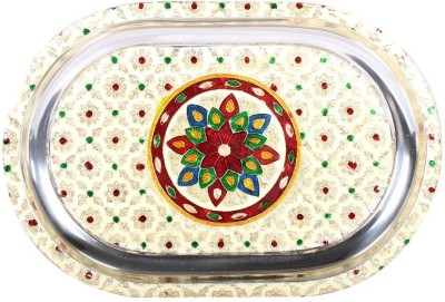 Apkamart Handcrafted Minakari Serving Tray - 12 Inch - Utility Article and Gift Tray at flipkart